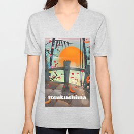 Itsukushima Japan Unisex V-Neck