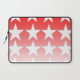 Red and White Stars, Faded Stars, Patriotic Laptop Sleeve