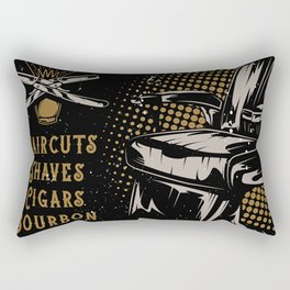 Gentlemen's Barber Shop LA Rectangular Pillow