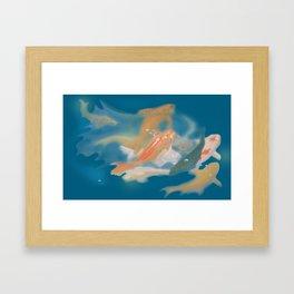 koi {blue} Framed Art Print