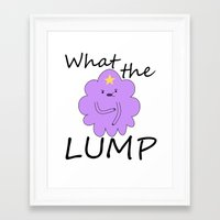 lumpy space princess Framed Art Prints featuring Kawaii Lumpy Space Princess by AstralWisp