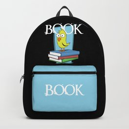 Book (white txt) Backpack
