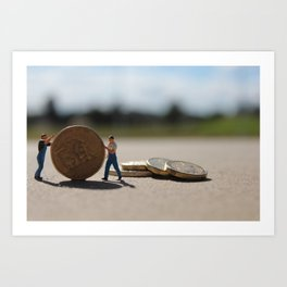 Tiny Bankers Art Print