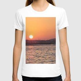 Sunset on the jeju  island sea in Korea T-shirt
