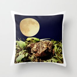 The Toad's Moon Throw Pillow