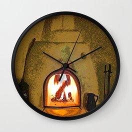 Kiva Fireplace Full On Wall Clock