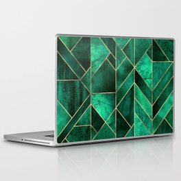 Abstract Nature - Emerald Green Laptop & iPad Skin