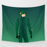arrow Wall Tapestries featuring Arrow by pablosiano