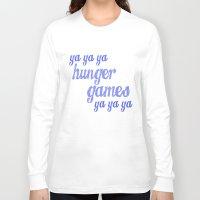lorde Long Sleeve T-shirts featuring Ya Ya Ya Hunger Ya Ya Ya Games - Blue by Hrern1313
