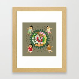 Indonesian Marketplace Nibbles Framed Art Print