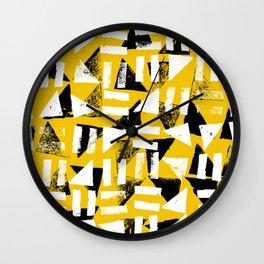 Signs - Black & Yellow Wall Clock