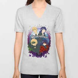 Miraculous Heroes of Paris Unisex V-Neck