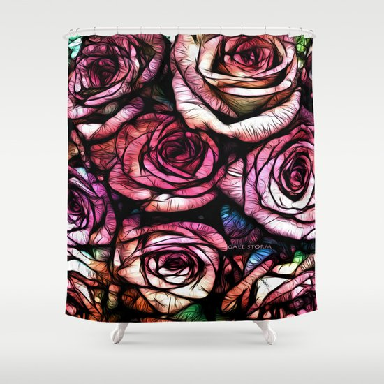 Rose Colored Shower Curtain By GaleStorm Artworks