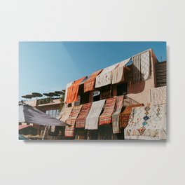 Marrakesh rugs | Morocco souks photo print Metal Print