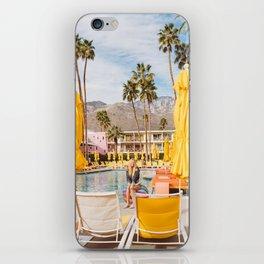 Palm Springs Pool Day VI iPhone Skin