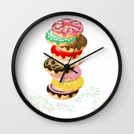 Stack of Donuts Wall Clock
