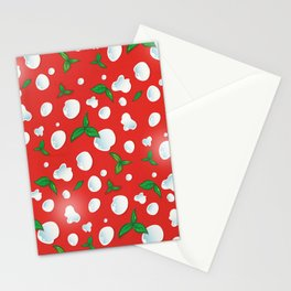 the real Italian pizza pattern backgroun Stationery Cards