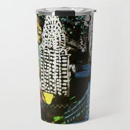 New York City Buildings at Night Travel Mug