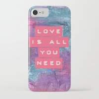 all you need is love iPhone & iPod Cases featuring LOVE IS ALL YOU NEED by VIAINA