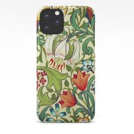 William Morris Garden Lily Floral Print iPhone Case