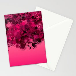 paint splatter on gradient pattern mag Stationery Cards