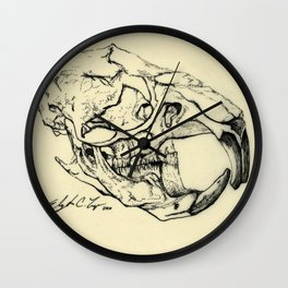 Rat Skull Wall Clock