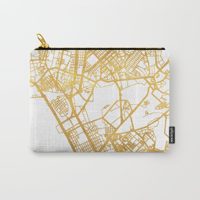 MANILA PHILIPPINES CITY STREET MAP ART Carry-All Pouch
