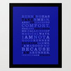 Strong Runner • Golds Art Print