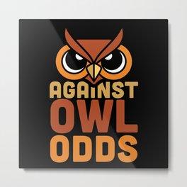Owls - Owl Odds - dark Metal Print
