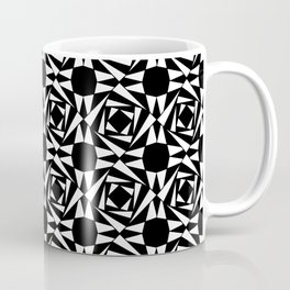 Symmetric patterns 135 Black and white Coffee Mug