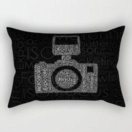 Photography Word Cloud Camera Shape Rectangular Pillow