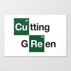 cutting green Canvas Print
