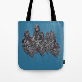Feather dots forest Tote Bag