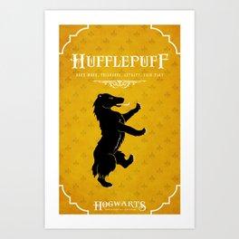 Hufflepuff House Poster Art Print