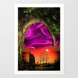 Bremerhaven - Sunset Art Print