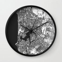 Perth Map Gray Wall Clock