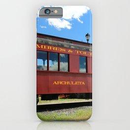 Red Railroad Car - Cumbres And Toltec iPhone Case
