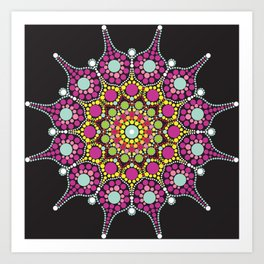 Purple mandala dotted Art Print