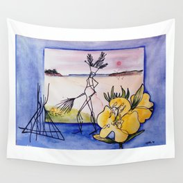 `GLOOSCAP'  From the Mic Macs, Canada Lege     by Kay Lipton Wall Tapestry