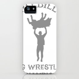 Hillbilly Hog Wrestling Champ iPhone Case