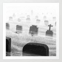 Drawlloween 2015: Grave Art Print