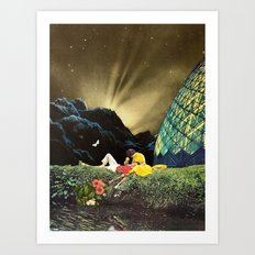 Postcard from New Iceland Art Print