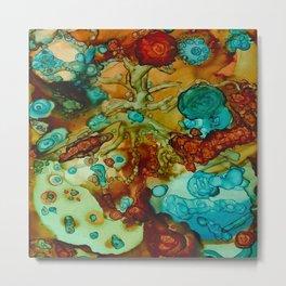 Floral Beginnings Abstract Metal Print