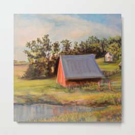 Nestled in the Farmland Metal Print