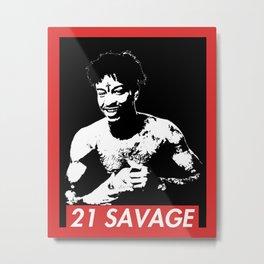 21SAVAGE Metal Print