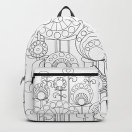 Flower Garden BW Backpack