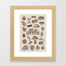 Lets Go Camping Framed Art Print