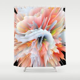 Exploding Enome Shower Curtain