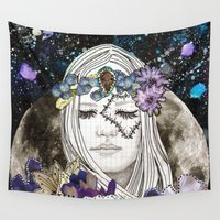 luna Wall Tapestries featuring Luna by Jenndalyn