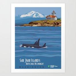 Vintage Poster - San Juan Islands National Monument, Washington (2015) Art Print